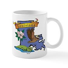 Louisiana Map Mug