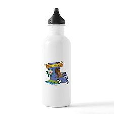 Louisiana Map Sports Water Bottle