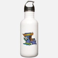 Louisiana Map Sports Water Bottle