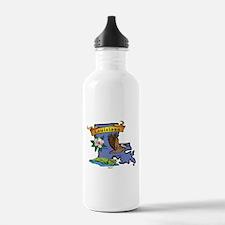 Louisiana Map Water Bottle