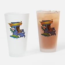 Louisiana Map Drinking Glass