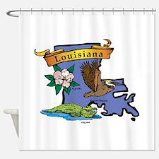 Louisiana Map Shower Curtain