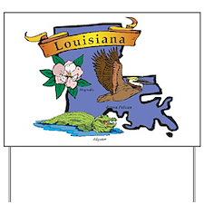 Louisiana Map Yard Sign