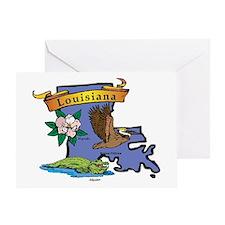 Louisiana Map Greeting Card