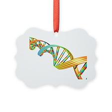 DNA molecule, computer artwork - Ornament