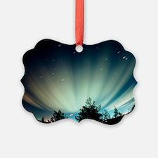 Fisheye lens photograph of the aurora borealis - P