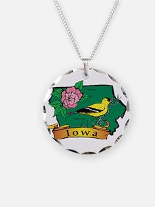 Iowa Map Necklace