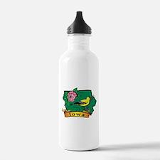 Iowa Map Water Bottle