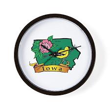 Iowa Map Wall Clock