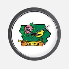 Iowa Map Wall Clock