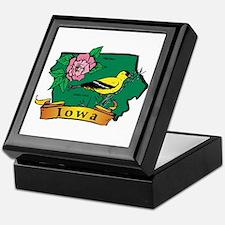 Iowa Map Keepsake Box