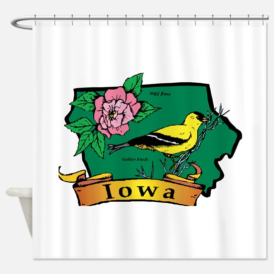 Iowa Map Shower Curtain