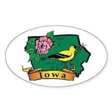 Iowa Map Decal