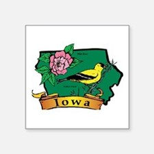 "Iowa Map Square Sticker 3"" x 3"""