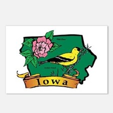 Iowa Map Postcards (Package of 8)
