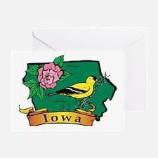 Iowa Map Greeting Card