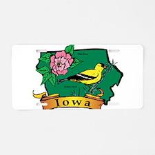 Iowa Map Aluminum License Plate