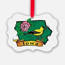 Iowa Map Ornament