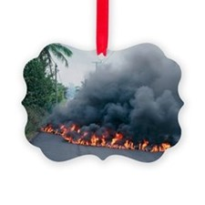 Lava flow from Kilauea volcano - Ornament