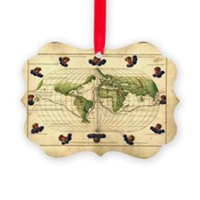 Magellan's route, 16th century map - Ornament