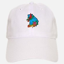 Georgia Map Baseball Baseball Cap