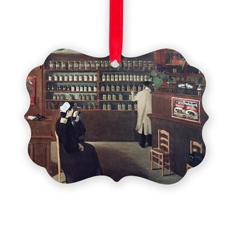 The Pharmacy, 1912 artwork - Picture Ornament