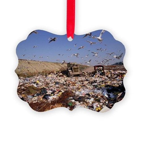 View of a waste landfill site - Picture Ornament