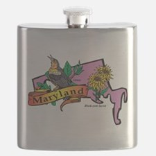 Maryland Map Flask