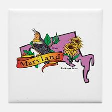 Maryland Map Tile Coaster