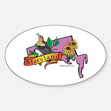 Maryland Map Sticker (Oval)