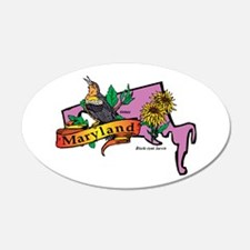 Maryland Map Wall Decal