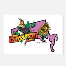 Maryland Map Postcards (Package of 8)