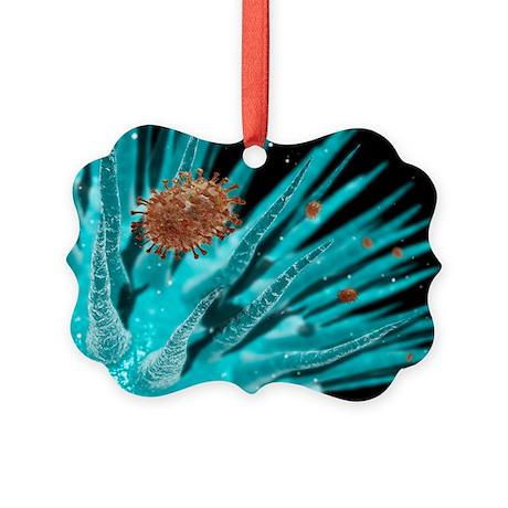 Flu viruses - Picture Ornament