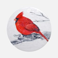 Cardinal Painting Ornament (Round)