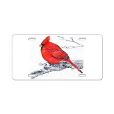 Cardinal Painting Aluminum License Plate