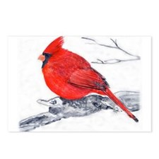 Cardinal Painting Postcards (Package of 8)