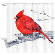 Cardinal Painting Shower Curtain