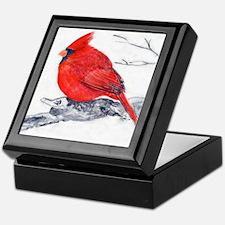 Cardinal Painting Keepsake Box