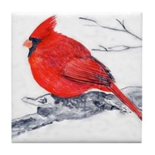 Cardinal Painting Tile Coaster