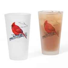 Cardinal Painting Drinking Glass