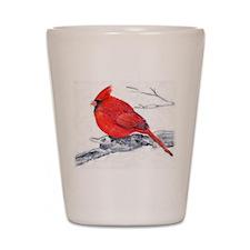 Cardinal Painting Shot Glass
