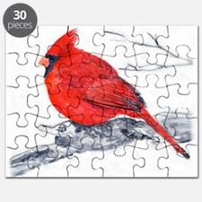 Cardinal Painting Puzzle