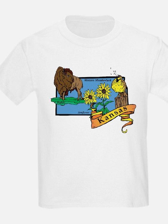 Kansas Map T-Shirt