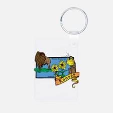Kansas Map Keychains