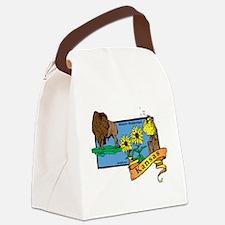 Kansas Map Canvas Lunch Bag