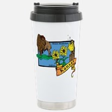 Kansas Map Travel Mug