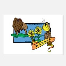 Kansas Map Postcards (Package of 8)