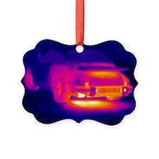 Porsche car, thermogram - Ornament