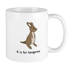 k is for kangaroo Mug