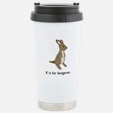k is for kangaroo Travel Mug